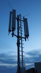 LTE-Sendemast Flüggestrasse 15